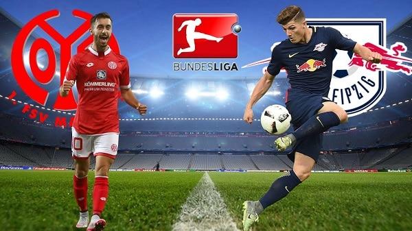 Na zdjęciu zapowiedź pojedynku Mainz - RB Lipsk